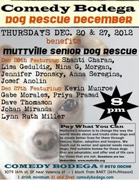 Comedy Bodega brings out the funny to raise money for Muttville!!