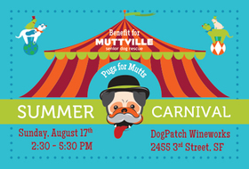 Pugs for Mutts Summer Carnival: A Benefit for Muttville!