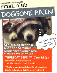 DOGGONE PAIN: How to Identify and Treat Pain for a Happy, Healthy Mutt! A Senior Dog Health and Nutrition Seminar