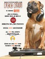 FCC FREE RADIO birthday party to benefit Muttville!